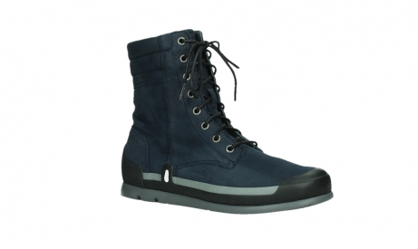 wolky lace up boots 02775 adams 13800 blue nubuckleather_3