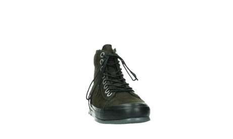 wolky lace up boots 02777 watson 13770 13770 gray brown nubuck_6