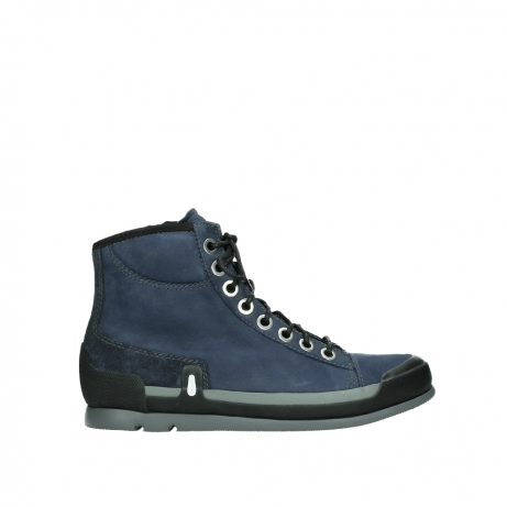 wolky lace up boots 02777 watson 13800 blue nubuckleather