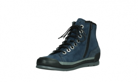 wolky lace up boots 02777 watson 13800 blue nubuckleather_10