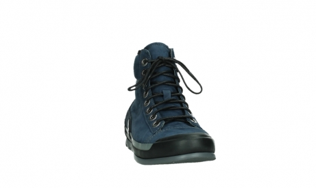 wolky lace up boots 02777 watson 13800 blue nubuckleather_6