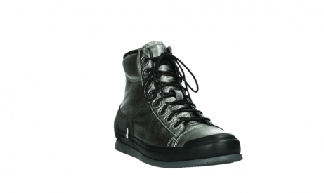 wolky lace up boots 02777 watson 30280 metal leather_5