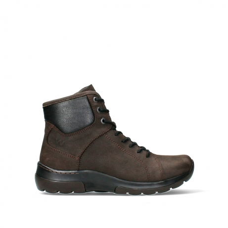 wolky lace up boots 03026 ambient 11305 dark brown nubuck