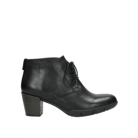 wolky lace up boots 03675 bighorn 30002 black leather