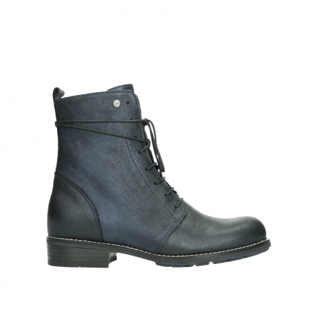 wolky lace up boots 04444 murray xw 25800 metallic blue leather