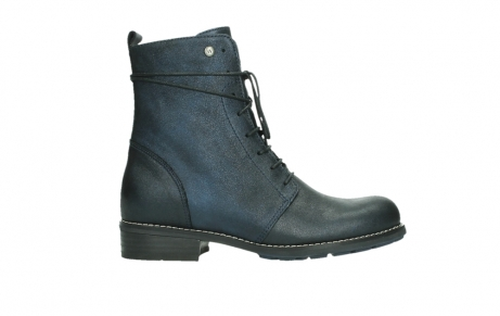 wolky lace up boots 04444 murray xw 25800 metallic blue leather_1