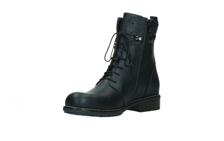 wolky lace up boots 04444 murray xw 25800 metallic blue leather_10