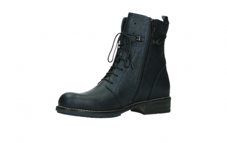 wolky lace up boots 04444 murray xw 25800 metallic blue leather_11