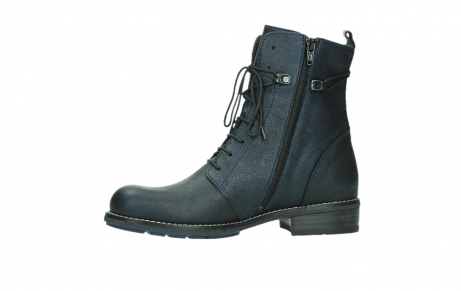 wolky lace up boots 04444 murray xw 25800 metallic blue leather_12