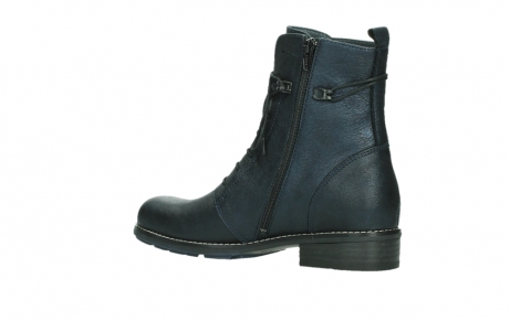 wolky lace up boots 04444 murray xw 25800 metallic blue leather_15