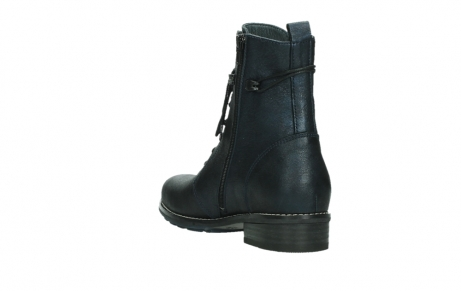 wolky lace up boots 04444 murray xw 25800 metallic blue leather_17