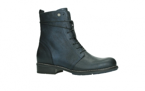 wolky lace up boots 04444 murray xw 25800 metallic blue leather_2