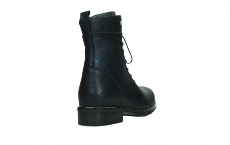 wolky lace up boots 04444 murray xw 25800 metallic blue leather_21