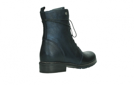 wolky lace up boots 04444 murray xw 25800 metallic blue leather_22