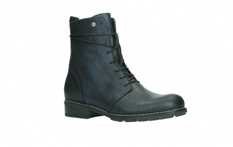 wolky lace up boots 04444 murray xw 25800 metallic blue leather_3