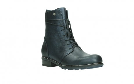 wolky lace up boots 04444 murray xw 25800 metallic blue leather_4