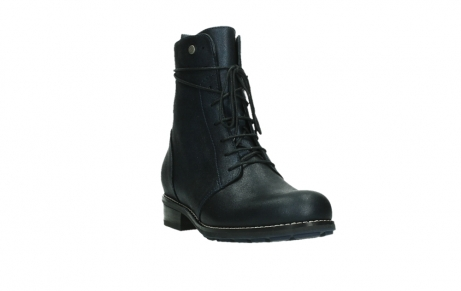 wolky lace up boots 04444 murray xw 25800 metallic blue leather_5