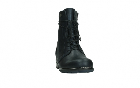 wolky lace up boots 04444 murray xw 25800 metallic blue leather_6