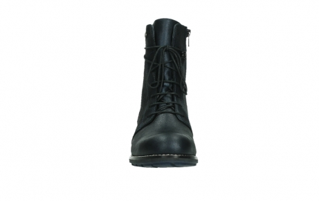wolky lace up boots 04444 murray xw 25800 metallic blue leather_7