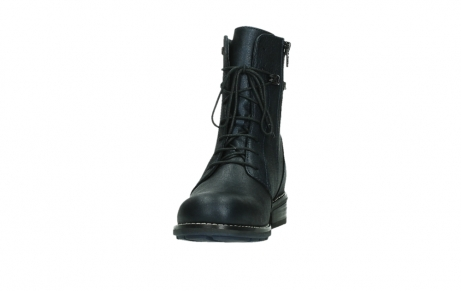 wolky lace up boots 04444 murray xw 25800 metallic blue leather_8