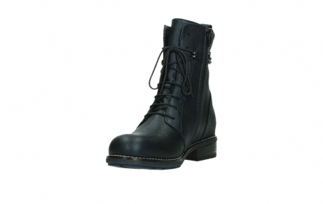 wolky lace up boots 04444 murray xw 25800 metallic blue leather_9