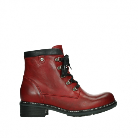 wolky ankle boots 04475 ronda 30505 dark red leather