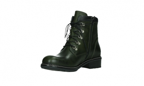 wolky lace up boots 04475 ronda 30730 forest green leather_10