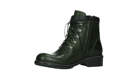 wolky lace up boots 04475 ronda 30730 forest green leather_11