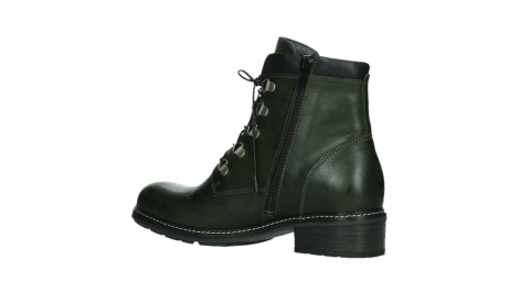 wolky lace up boots 04475 ronda 30730 forest green leather_15