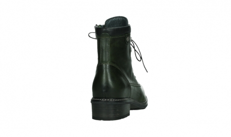 wolky lace up boots 04475 ronda 30730 forest green leather_20