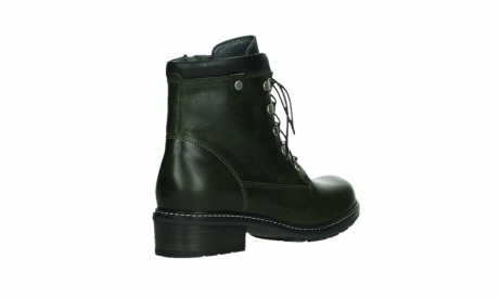 wolky lace up boots 04475 ronda 30730 forest green leather_22