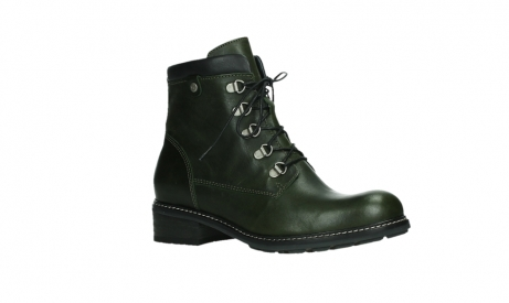 wolky lace up boots 04475 ronda 30730 forest green leather_3