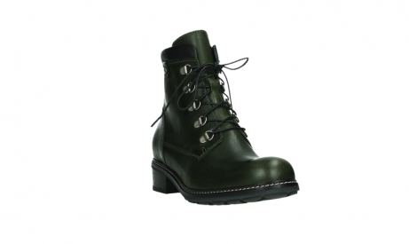 wolky lace up boots 04475 ronda 30730 forest green leather_5