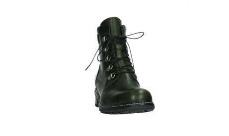 wolky lace up boots 04475 ronda 30730 forest green leather_6