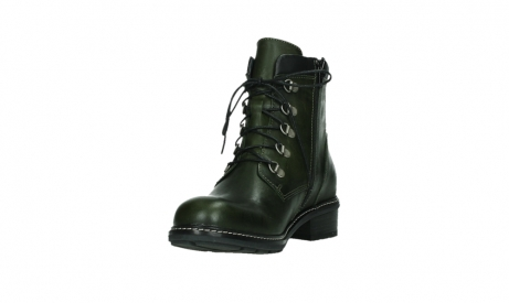 wolky lace up boots 04475 ronda 30730 forest green leather_9