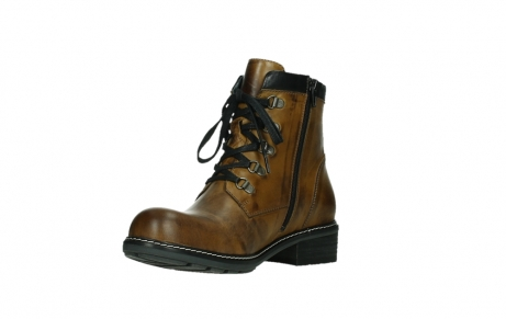 wolky lace up boots 04475 ronda 30925 dark ocher leather_10