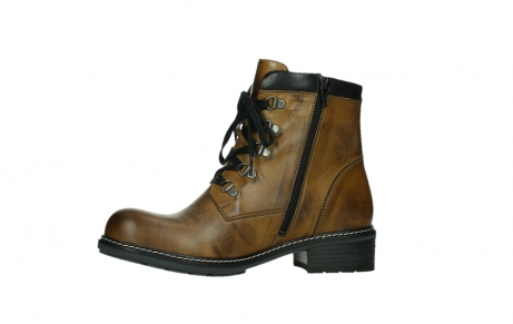 wolky lace up boots 04475 ronda 30925 dark ocher leather_12