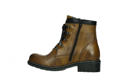 wolky lace up boots 04475 ronda 30925 dark ocher leather_14