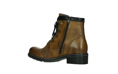 wolky lace up boots 04475 ronda 30925 dark ocher leather_15
