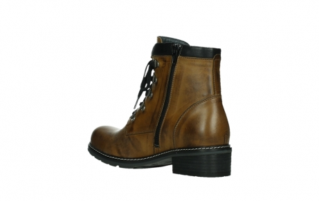 wolky lace up boots 04475 ronda 30925 dark ocher leather_16