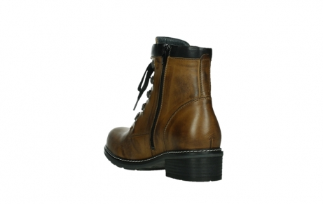 wolky lace up boots 04475 ronda 30925 dark ocher leather_17
