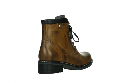 wolky lace up boots 04475 ronda 30925 dark ocher leather_22