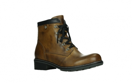 wolky lace up boots 04475 ronda 30925 dark ocher leather_3