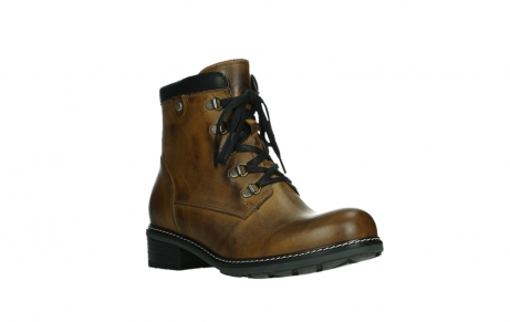 wolky lace up boots 04475 ronda 30925 dark ocher leather_4