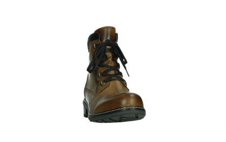 wolky lace up boots 04475 ronda 30925 dark ocher leather_6