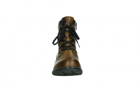 wolky lace up boots 04475 ronda 30925 dark ocher leather_7