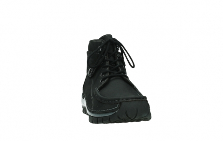wolky lace up boots 04725 jump winter 14000 black palmmetal suede_6