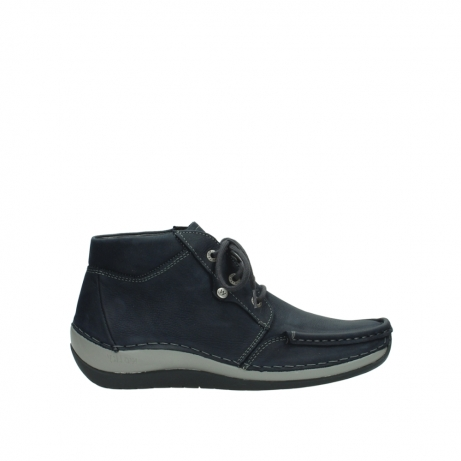 wolky lace up boots 04826 sensation 11802 blue oiled nubuck