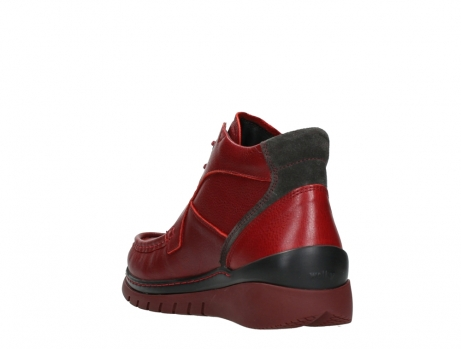 wolky lace up boots 04850 zoom 24505 dark red leather_17