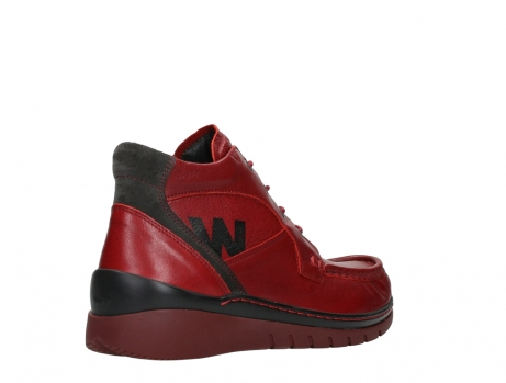 wolky lace up boots 04850 zoom 24505 dark red leather_22